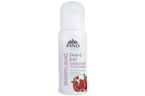 Pinopharma 33335 PROTECT ME! Handcreme Pflegeschaum Granatapfel Arganöl incl. 2 Waschhandschuhe von carmesin
