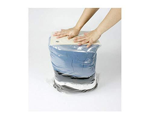 YIEBAI Bolsa de vacío para el hogar Bolsa de Almacenamiento de Ropa con válvula Borde Transparente Bolsa organizadora comprimida Plegable Paquete de Sellado Que Ahorra Espacio,90x110cm