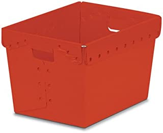 Red Corrugated Plastic Nesting Tote Container - 18-1/4
