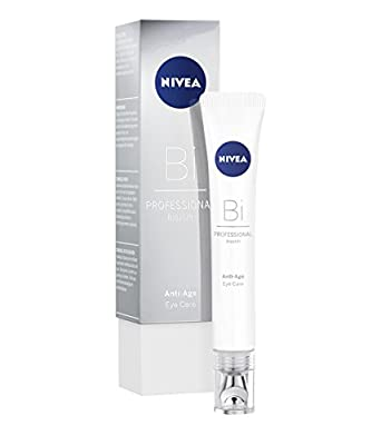 NIVEA PROFESSIONAL Bioxilift Anti-Age Eye Care (1 x 15 ml), Anti-Wrinkle Eye Cream Care for Expression Lines, Crow's Feet and Eye Bags, Anti-Ageing Moisturiser for the Sensitive Eye Area