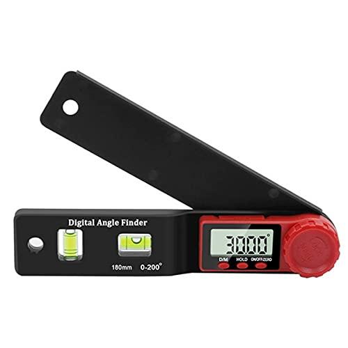 Nihlsen 2-en-1 Mini transportador digital buscador de ángulo inclinómetro nivel electrónico 360 grados imán ángulo libre inclinación prueba regla