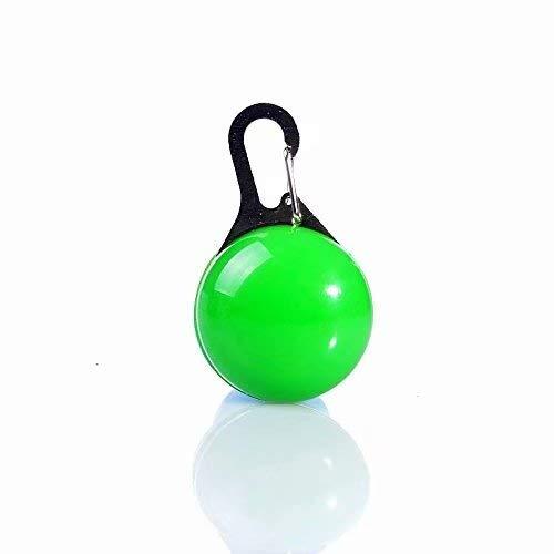 Zehui–Ciondolo rotondo blu collare cucciolo LED luce di sicurezza notturna Pet Dog Collar