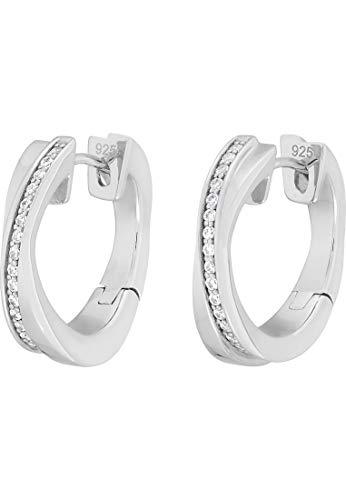 JETTE Silver Damen-Creolen 925er Silber 34 Zirkonia One Size 87223183