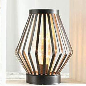 Lanterne LED à cage métallique alimentée par batterie, lumière d'accent sans fil avec ampoule LED Edison.Idéal pour les mariages, les fêtes, le patio, les événements pour l'intérieur/extérieur