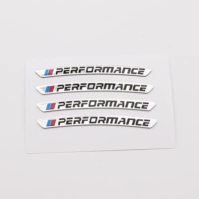 Etiqueta engomada del aspecto 3D del coche 20 sets calcomanías de auto etiqueta ruedas ruedas llantas Racing Pegatina de coche Rendimiento para BMW E46 E90 E60 E39 F10 F30 E36 F20 X1 X3 X5 ETC ETC Eti