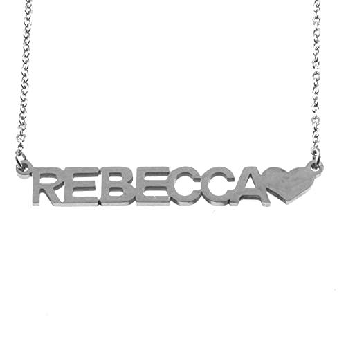 collana con nome Rebecca acciaio da donna cll1796