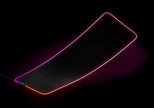 SteelSeries QcK Prism Cloth - Mouse pad da gioco - Illuminazione RGB a 2 zone - Dimensioni extra large