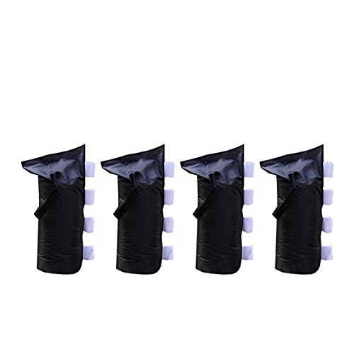 Rebecca Mobili Set di 4 Pesi per gazebi, Sacchi Sabbia per tendone fiere, Sacchi da riempire per Gazebo, Fissaggio con Velcro, Neri, Poliestere - 48 x 22 cm (H x L) - Art. RE6346