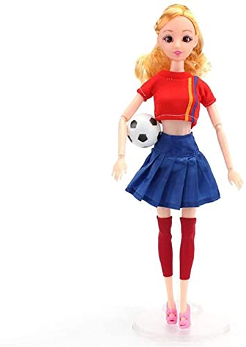 XinYiC Fashion Dolls Toys Clothes Accessories Ball Jersey Outfits - 11.5 Inch Girl Dolls with Sports Costume Mini Football - #C