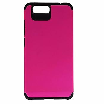 TekYa Dual Layer Case Cover for BLU Vivo 5 - Matte Pink / Black