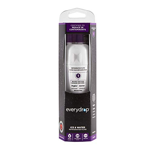 EveryDrop by Whirlpool 10383251 Refrigerator Water Filter 1, EDR1RXD1 (Pack of 1), Purple