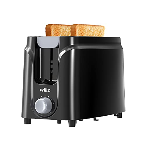 Willz 2-Slice Extra Wide Slot Toaster with Shade Selector, Auto Shut-off and Cancel Functions,...