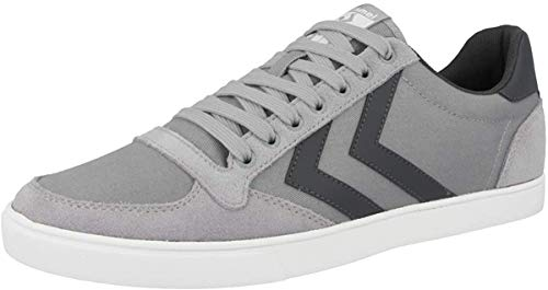 hummel Slimmer Stadil Canvas Low, Zapatillas Unisex Adulto, Gris (Alloy 1100), 38 EU