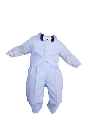Taufanzug Baby Junge Kinder Kind Taufe Anzug Hochzeit Anzüge Festanzug, 4tlg, Weiß Größe 68