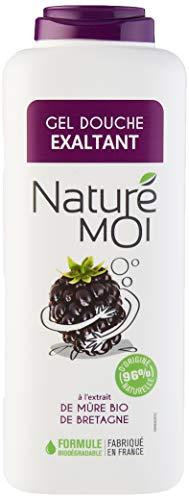 Naturé Moi – Gel douche exaltant à l'extrait de mûre bio de Bretagne – Hydrate et nourrit les peaux normales à sèches – 400ml - Lot de 4