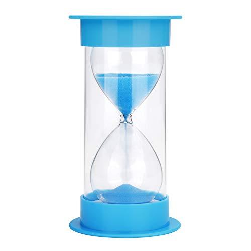 JUNDUN Sanduhr 5/10 / 15/30 Minuten Sanduhren Dekoration Zeitmesser Timer für Kinder Klassenzimmer Küche Spiele(Blau)