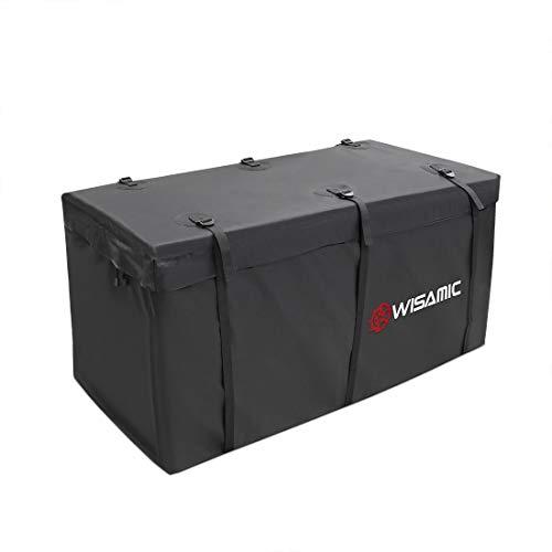 WISAMIC Heckbox für Anhängerkupplung Auto Hintere Erweiterbare Gepäcktasche: Wasserdicht Transporttasche 417 Liter, 500 x 500 D PVC Tarpulin
