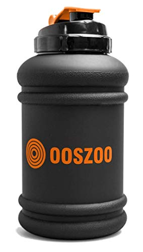 OOSZOO Water Bottle - Drink, Liquid, Shake, Juice Jug for Sports, Gym, Workout, Fitness, Exercise - Large 2.2 Litre Capacity, Strong Tritan Plastic, Flip Top Cap - Dishwasher Safe, No BPA or DEHP