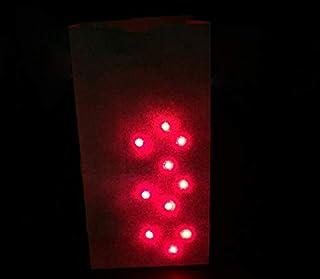 كيس يا لايتس تضيء تشمل إصبع الخفية السحرية الحيل الأحمر/الأزرق الضوء على مقربة السحر لعبة العقلية أظهر الهلال جولة