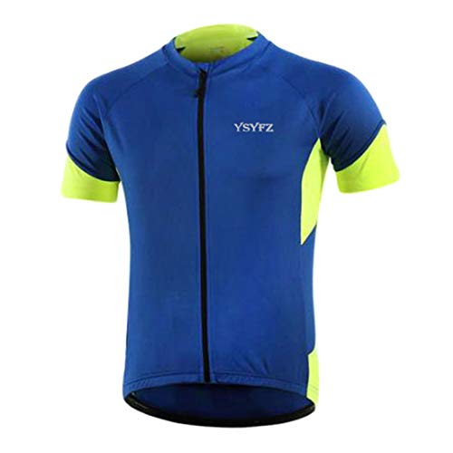 Camiseta MTB para Hombre, Ropa de Ciclismo, Camiseta de Ciclismo de Carretera Transpirable, Camiseta de Manga Corta, Ropa de Ciclismo de Secado rápido