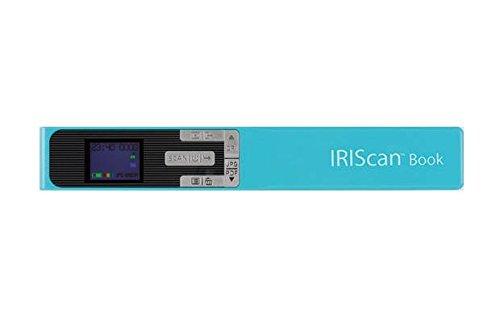 IRIS IRIScan Book 5 Buchscanner (Win/Mac. Kabellos Integrierte wiederaufladbare Lithiumbatterie. 300/ 600/1200 dpi) türkis