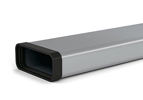 SF-VRO 150 Flachkanalrohr in 1000 mm Länge mit Profildichtungen / COMPAIR STEEL flow 150 (System Ø 150)