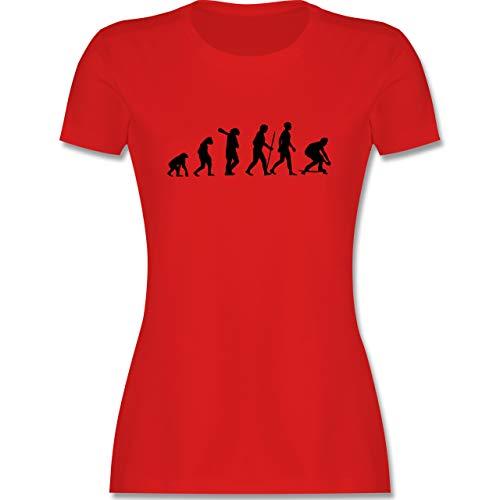 Entwicklung und Evolution Outfit - Longboard Evolution - S - Rot - Longboard t Shirt Damen - L191 - Tailliertes Tshirt für Damen und Frauen T-Shirt