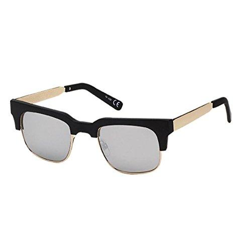 Chic-Net Zonnebril metalen beugel frame hoekige kat oog 400 UV getinte spiegel