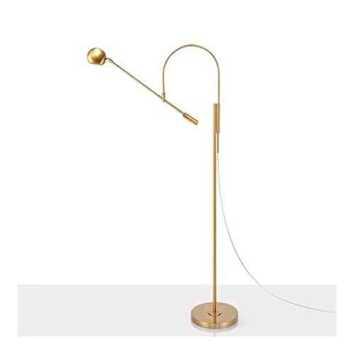 Staande Lamp Modern Design-leeslamp for woon- / slaapkamer/studeerkamer en kantoor, thuis Verticale Light met metalen lampenkap DZE (Color : Gold, Size : 84cm*155cm)