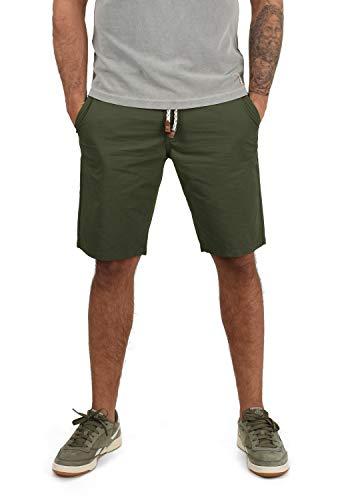 Blend Ragna Herren Chino Shorts Bermuda Kurze Hose Mit Kordel-Gürtel Aus 100{bf57cf7d842e0c73081f8881362dc04ef4444cd5ce78dcc676e673a14ef653fe} Baumwolle Regular Fit, Größe:L, Farbe:Dusty Green (70595)