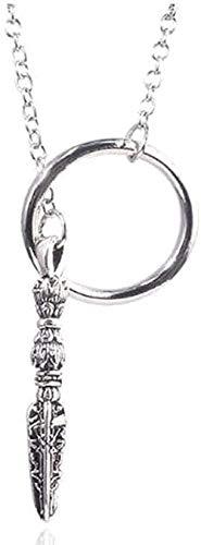 FACAIBA Collar Stark Sansa, Colgantes, Collares de Plata, Colgante de Disfraz para Mujer, Collar de joyera, Colgante de Cadena para Mujeres y Hombres