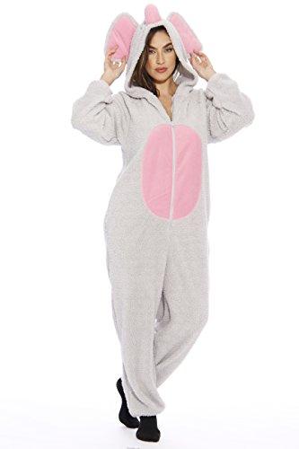Just Love Adult Onesie   Pajamas - Large - Elephant