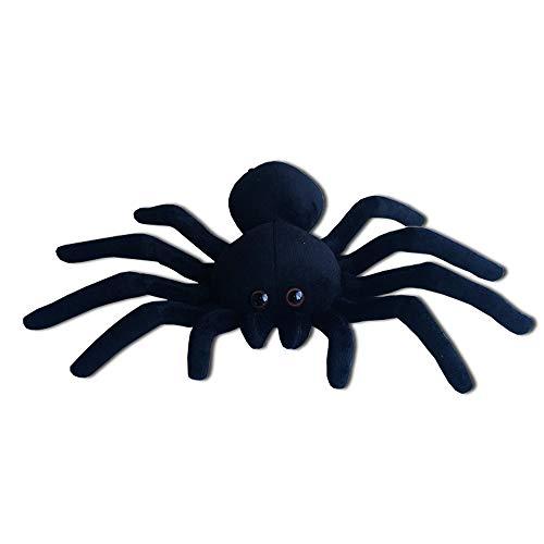 Tarantula Stuffed Animal, Black Spider Plush 9 Inch Collectible Decorative Big Eyes Tarantula Stuffed Toy Soft Take A Long Plushie Pillow Squishes Washable Cushy Mini Doll Wantitall