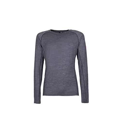 ROCK EXPERIENCE Makani 941 T-Shirt à Manches Longues pour Homme, mélange mérinos - Bleu - Large