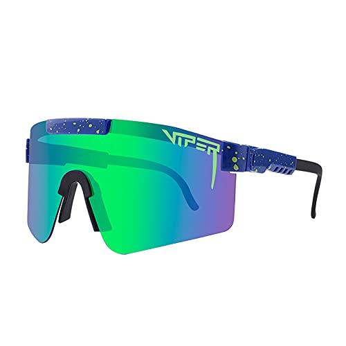 JLJLJL Gafas de Ciclismo Polarizadas, Gafas de Sol Deportivas Hombres Ciclismo Pesca Golf Big Frame Ajustable Montar Gafas C1