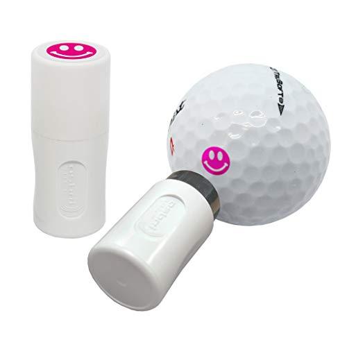 Asbri Golf Pinker Ball-Stempel, Smiley