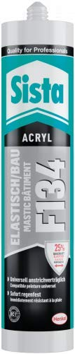 2x300 ml Sista Acryl F134 Elastisch/Bau 0,6 Liter Farbwahl, Farbe:Braun