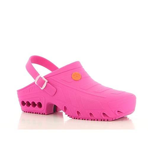 Safety Jogger Oxypas - Zapatillas de trabajo unisex para adultos, talla 43/44, color Rosa, talla 45/46 EU