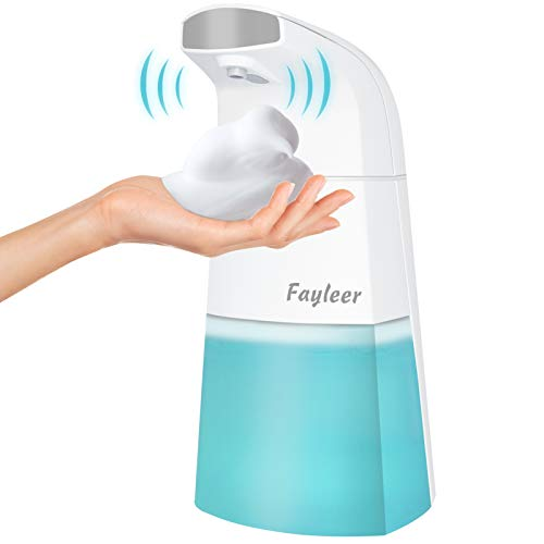 fayleer Dispensador Jabón Automático 310ml Dispensador de Jabón Dosificador Jabón Espuma Automático con Sensor Infrarrojo Sin Contacto para Baño Cocina Aseo Oficina Hotel