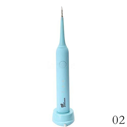 ZHQI Dientes ultrasónicos dentales Limpieza eléctrica USB Limpieza de Dientes Blanqueamiento Dental Herramientas Salud bucal 080 (Color : Blue)