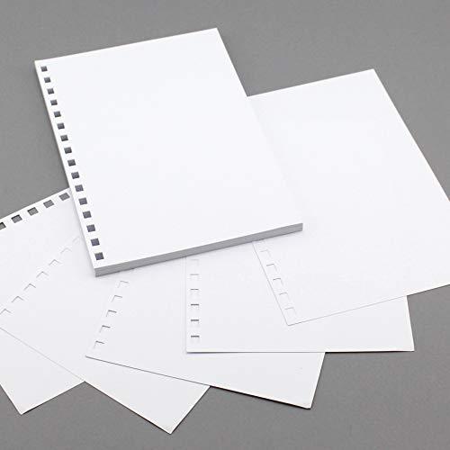 Geperforeerde A5 Classic White Card, 140 GSM voor navulbare tijdschriften, notities, schetsboeken, fotoalbums