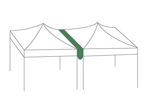 Greaden regengoot, 3 m, 420D, polyester, PVC-coating, voor tent, 40/50 mm, 2 x 3/3 x 4,5 m, met klittenbandsluiting