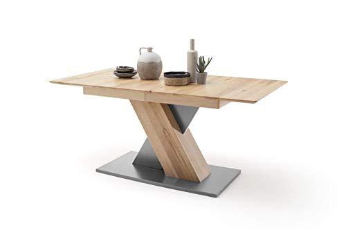 möbelando Esszimmertisch Tisch Küchentisch Massivholztisch Esstisch Cuba III Buche/140 cm