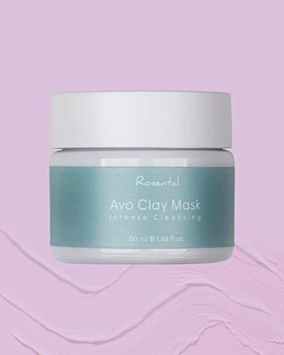 ROSENTAL ORGANICS ® Avo Clay Mask 100% Natürlich -Detox Maske Gegen Unreine Haut (Avo Clay Mask)