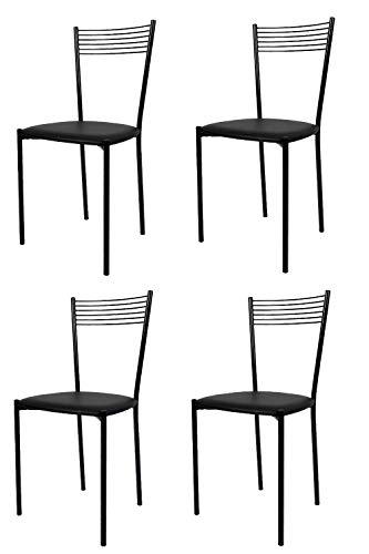 con Robusta Struttura in Legno Color anilina Gialla e Seduta in Legno massello Set 4 Sedie Classiche Cuore 38 per Cucina Tommychairs Bar e Sala da Pranzo