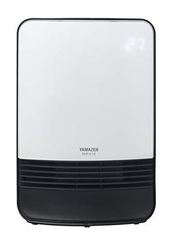 [山善] 室温センサー付セラミックヒーター(温度設定4段階・センサー運転機能付) ホワイト DHF-K12(W) [メーカー保証1年]