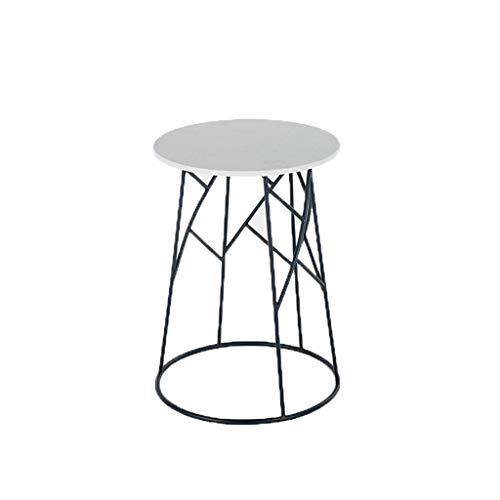 LF Stores-Coffee Tables Nordic stijl salontafel marmeren plaat metalen frame ronde salontafel nachtkastje sofa bijzettafel gemakkelijk te verplaatsen wit