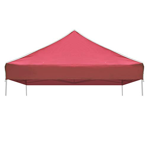 Strong Camel Ez pop Up Canopy Replacement Top Instant 10'X10' Gazebo EZ Canopy Cover Patio Pavilion Sunshade plyester-Burgundy Color