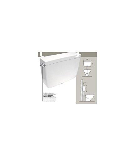 Bampi cluna000Luna Caja inodoro a mochila con tubo de discesa, blanco