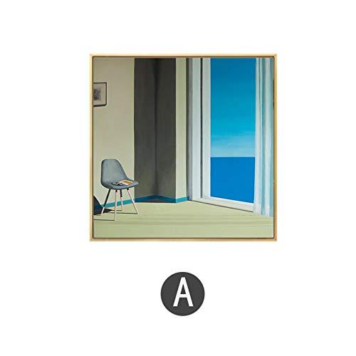 wen-shhen No frameDavid Hockney Künstler Bigger Splash Fresh mit blauem Pool Home Decor Poster Print Berühmte Wand Leinwand Kunst für Wohnzimmer 50x50cm